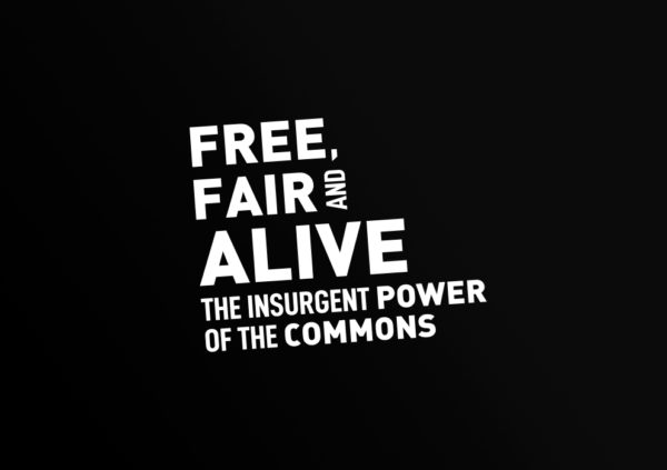 "Identidad gráfica y web para ""Free, Fair and Alive. The insurgent power of the commons"" book by Silke Helfrich and David Bollier"